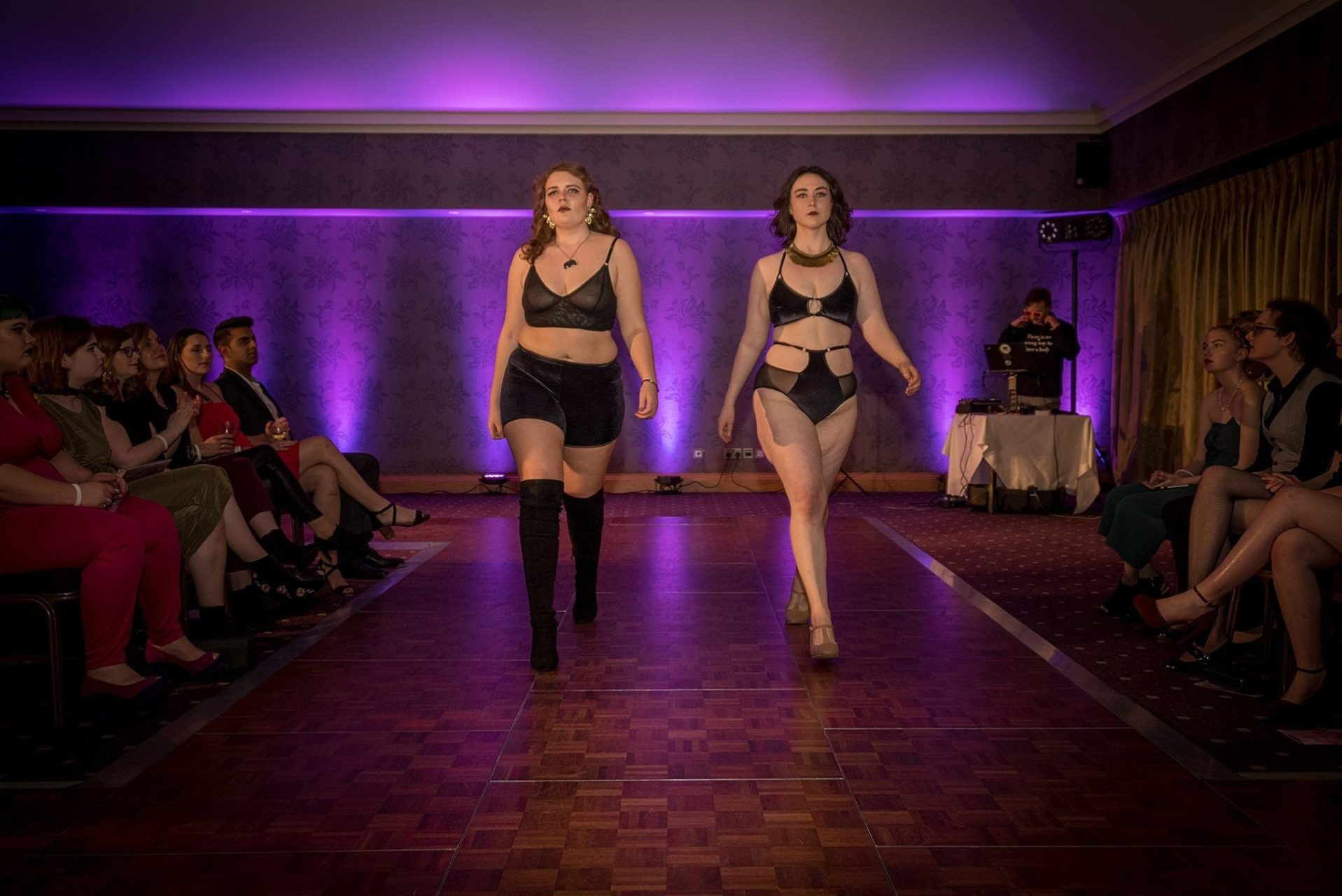 Georgia Set & DMC bra on the Catwalk