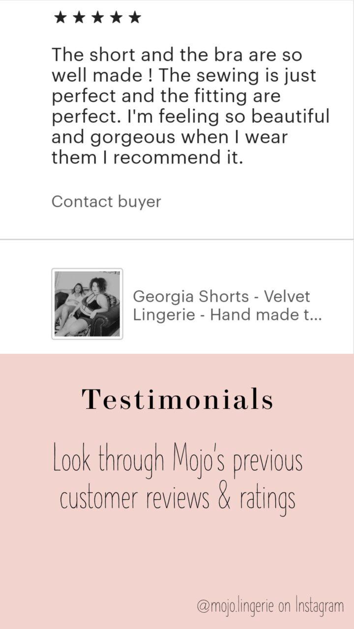 Reviews and testimonials, look through Mojo's previous customer ratings