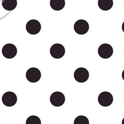 White background with black spots fabric