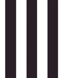 Alternating black and white stripes fabric