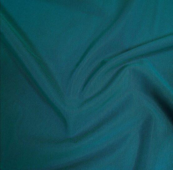 Teal, greeny-blue mesh fabric